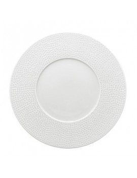 ASSIETTE ROMA BLANCHE 21CM BANDE OR ET FILET OR